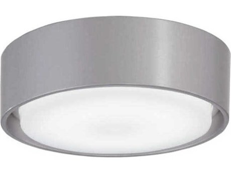 Minka-Aire Simple 5'' Wide Silver / Etched White LED Light Kit