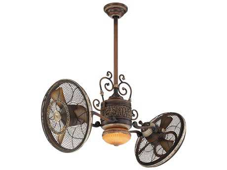 Minka-Aire Traditional Gyro Belcaro Walnut 42'' Wide Indoor Ceiling Fan MKAF502BCW