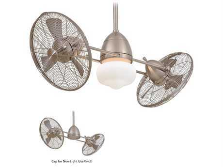 Minka-Aire Gyro Wet Brushed Nickel 42'' Wide Outdoor Ceiling Fan