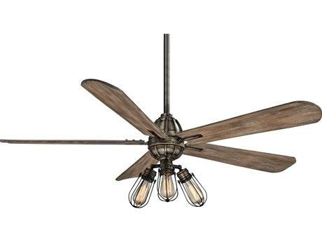 Minka-Aire Heirloom Bronze 56'' Wide Three-Light Indoor Ceiling Fan with Aged Boardwalk Blades