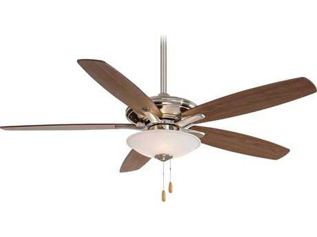 Minka-Aire Mojo Brushed Nickel Three-Light 52'' Wide Indoor Ceiling Fan MKAF522BN
