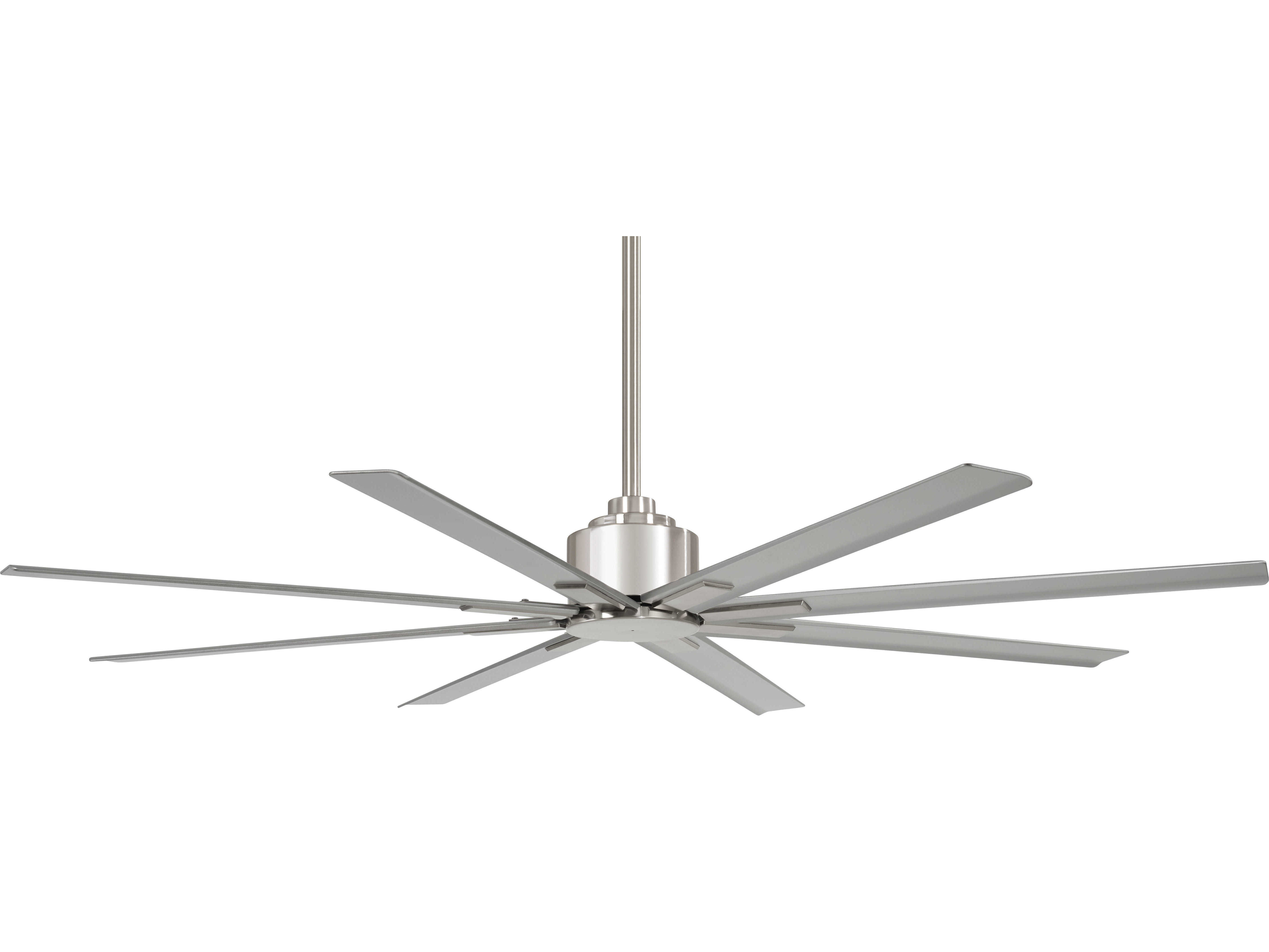 Minka Aire Brushed Nickel Wet 65 Wide Outdoor Ceiling Fan With Silver Blades