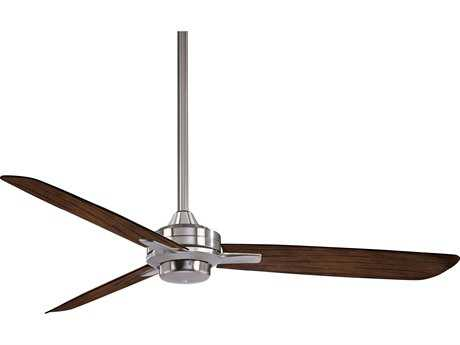 Minka-Aire Rudolph Brushed Nickel with Medium Maple Blades 52'' Wide Indoor Ceiling Fan MKAF727BNMM