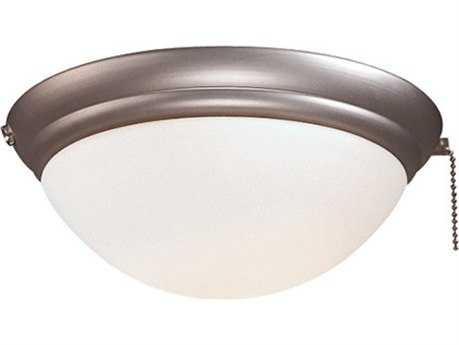 Minka-Aire Brushed Steel Incandescent Fan Light Kit for 40''-44'' Span Fans