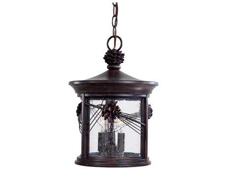 Minka Lavery Abbey Lane Iron Oxide Glass Outdoor Hanging Light