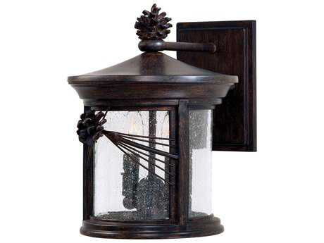 Minka Lavery Abbey Lane Iron Oxide Glass Outdoor Wall Light