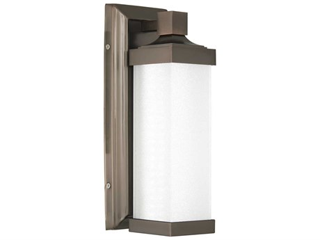 Minka Lavery Accent Harvard Court Bronze Glass LED Wall Sconce