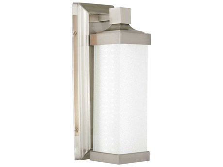 Minka Lavery Accent Brushed Nickel Glass LED Wall Sconce