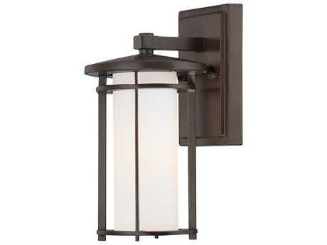 Minka Lavery Addison Park Dorian Bronze Glass Outdoor Wall Light