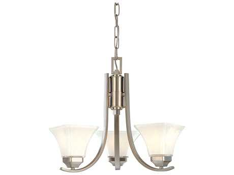 Minka Lavery Agilis Brushed Nickel 20'' Wide Glass Mini Chandelier MGO181384