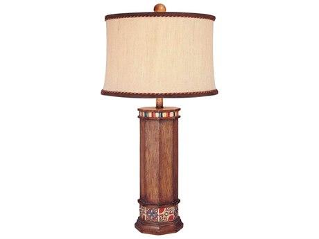 Minka Lavery Ambience Brown Wood Look Buffet Lamp