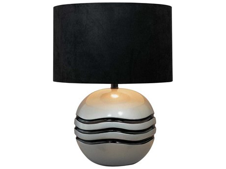 Minka Lavery Ambience Metallic Silver / Black Table Lamp MGO101030