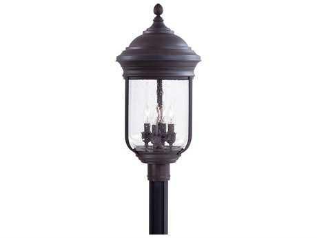 Minka Lavery Amherst Roman Bronze Glass Outdoor Post Light