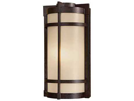 Minka Lavery Andrita Court Textured French Bronze Glass Outdoor Wall Light