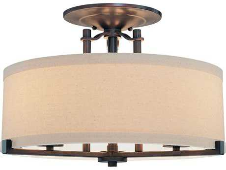Minka Lavery Ansmith Aged Kinston Bronze 18'' Wide Semi-Flush Mount MGO4499298