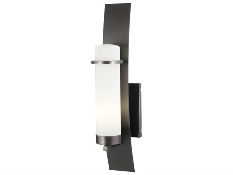 Minka Lavery Arcus Truth Smoked Iron Glass Outdoor Wall Light