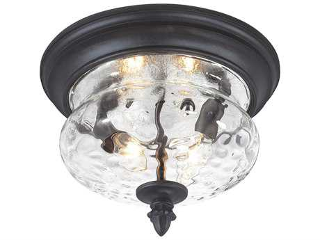 Minka Lavery Ardmore Black Glass Outdoor Ceiling Light