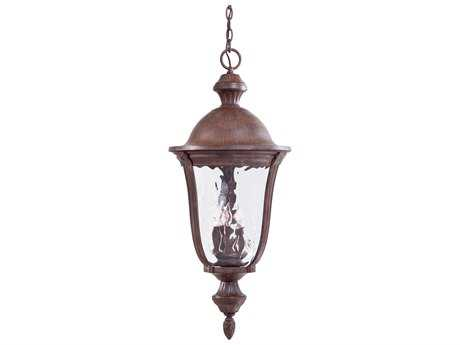 Minka Lavery Ardmore Vintage Rust Glass Outdoor Hanging Light MGO899461
