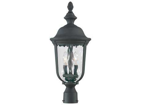Minka Lavery Ardmore Black Glass Outdoor Post Light MGO899566