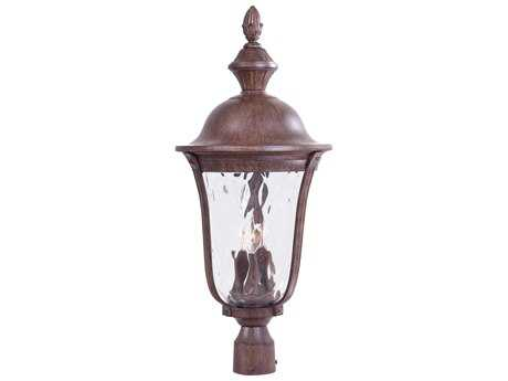 Minka Lavery Ardmore Vintage Rust Glass Outdoor Post Light MGO899661