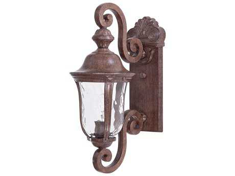 Minka Lavery Ardmore Vintage Rust Glass Outdoor Wall Light