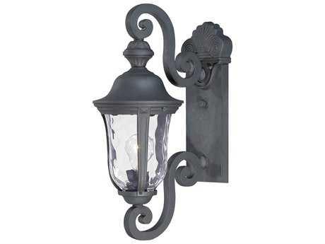 Minka Lavery Ardmore Black Glass Outdoor Wall Light