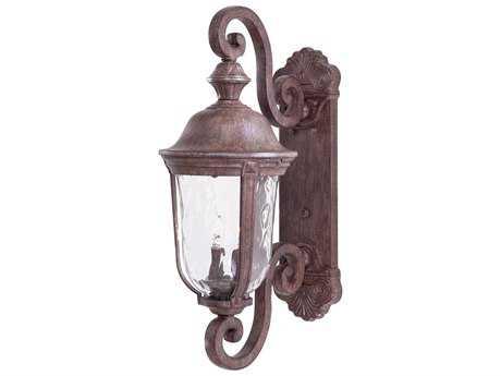 Minka Lavery Ardmore Vintage Rust Glass Outdoor Wall Light