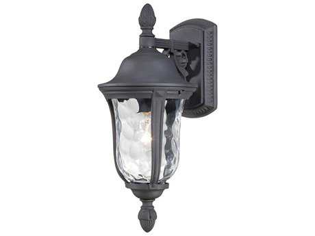 Minka Lavery Ardmore Black Glass Outdoor Wall Light