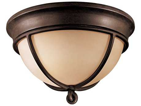 Minka Lavery Aspen Bronze 12'' Wide Glass Flush Mount Light MGO9761138