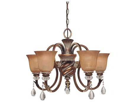 Minka Lavery Aston Court Bronze 27'' Wide Glass Medium Chandelier MGO174206