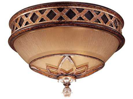 Minka Lavery Aston Court Bronze 13'' Wide Glass Flush Mount Light MGO1755206