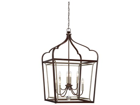 Minka Lavery Astrapia Dark Rubbed Sienna with Aged Silver 22'' Wide Medium Chandelier