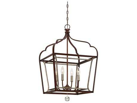 Minka Lavery Astrapia Dark Rubbed Sienna with Aged Silver 18'' Wide Mini Chandelier MGO4344593