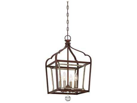 Minka Lavery Astrapia Dark Rubbed Sienna with Aged Silver 13'' Wide Pendant MGO4343593