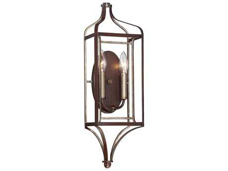 Minka Lavery Astrapia Dark Rubbed Sienna with Aged Silver Wall Sconce