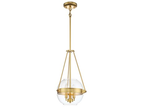 Minka Lavery Atrio Liberty Gold 12'' Wide Glass Pendant MGO2290249