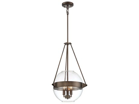 Uttermost Vitalia Oil Rubbed Bronze Three Light Pendant