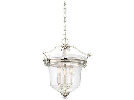 Minka Lavery Audrey Point Polished Nickel Glass Pendant MGO3297613