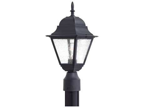 Minka Lavery Bay Hill Black Glass Outdoor Post Light