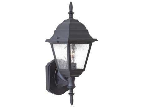 Minka Lavery Bay Hill Black Glass Outdoor Wall Light