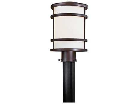 Minka Lavery Bay View Oil Rubbed Bronze Glass Outdoor Post Light