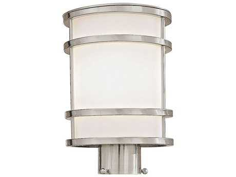 Minka Lavery Bay View Brushed Stainless Steel Glass Outdoor Post Light