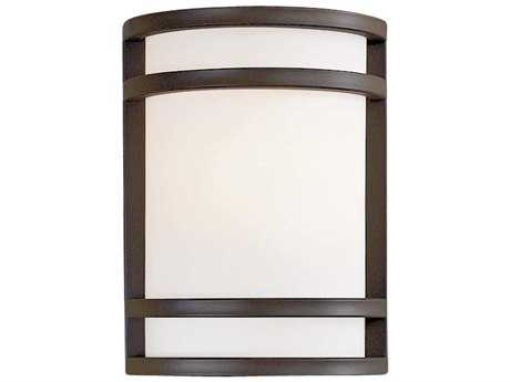 Minka Lavery Bay View Oil Rubbed Bronze Glass Outdoor Wall Light