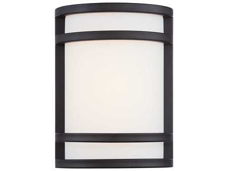 Minka Lavery Bay View Brushed Stainless Steel Glass LED Outdoor Wall Light