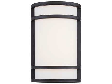 Minka Lavery Bay View Oil Rubbed Bronze Glass LED Outdoor Wall Light