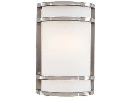 Minka Lavery Bay View Brushed Stainless Steel Glass Outdoor Wall Light