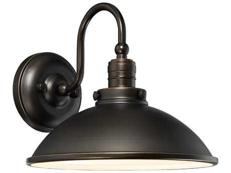 Minka Lavery Baytree Lane Oil Rubbed Bronze with Gold Highlights Industrial LED Wall Sconce MGO71169143CL