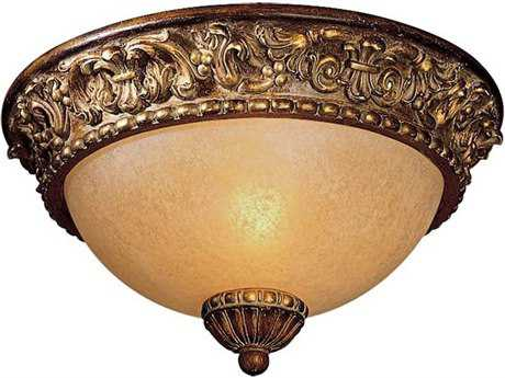 Minka Lavery Belcaro Walnut 11'' Wide Glass Flush Mount Light MGO960126