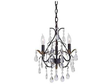 Minka Lavery Bellasera Castlewood Walnut with Silver Highlights 13'' Wide Mini Chandelier MGO3122301
