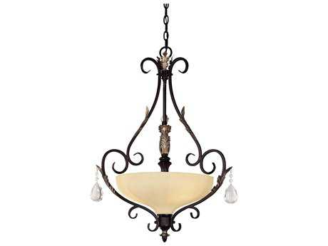 Minka Lavery Bellasera Castlewood Walnut with Silver Hightlights 23'' Wide Pendant MGO773301